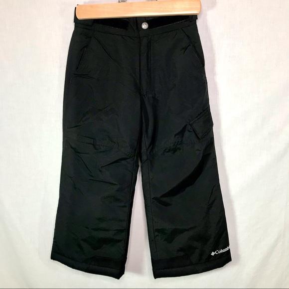 Columbia Kids Ski Snowboard Snow Pants 4/5 Black